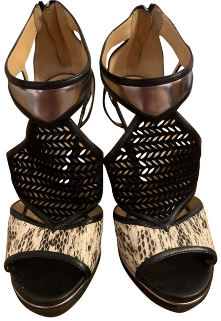 Item - Black Snake Skin Pump Platforms Size EU 37.5 (Approx. US 7.5) Regular (M, B)