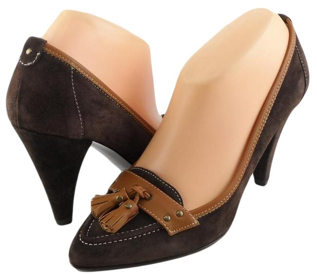 Item - Brown New York Pgal Kirsten Suede Pointed 7.5 Pumps Size EU 38 (Approx. US 8) Regular (M, B)