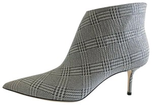Jimmy Choo Houndstooth Glitter Marinda Prince Of Stars Silver Boots