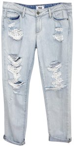 Paige Distressed Ankle Skinny Jeans-Light Wash