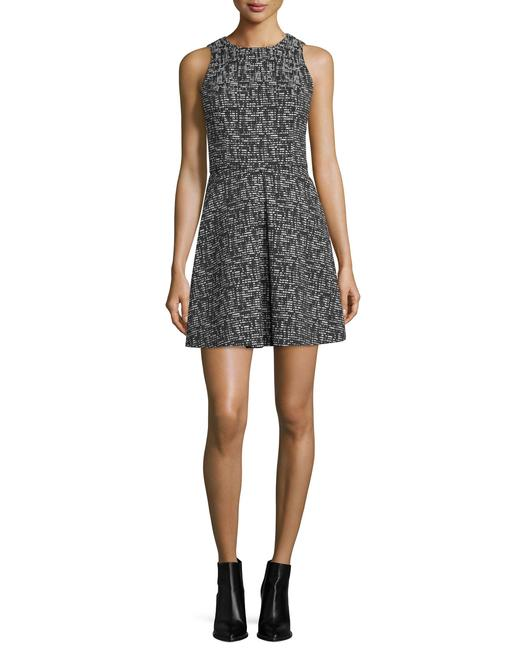 Alice + Olivia Black and White Janette Tweed Pleated Short Work/Office Dress Size 4 (S) Alice + Olivia Black and White Janette Tweed Pleated Short Work/Office Dress Size 4 (S) Image 1