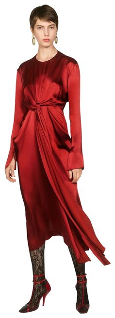 Item - Intense Red Campaign with Bow Details (8356) Long Casual Maxi Dress Size 8 (M)