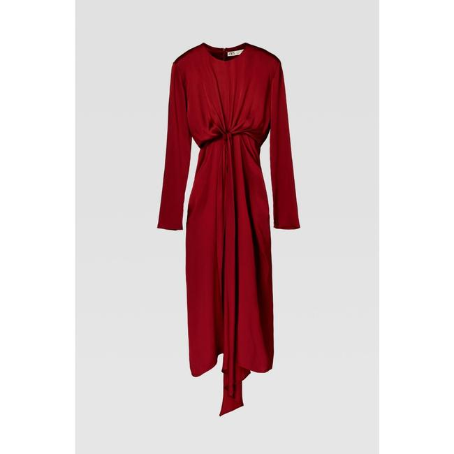 Zara Intense Red Campaign with Bow Details (8356) Long Casual Maxi Dress Size 8 (M) Zara Intense Red Campaign with Bow Details (8356) Long Casual Maxi Dress Size 8 (M) Image 11