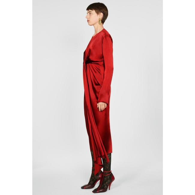 Zara Intense Red Campaign with Bow Details (8356) Long Casual Maxi Dress Size 8 (M) Zara Intense Red Campaign with Bow Details (8356) Long Casual Maxi Dress Size 8 (M) Image 3
