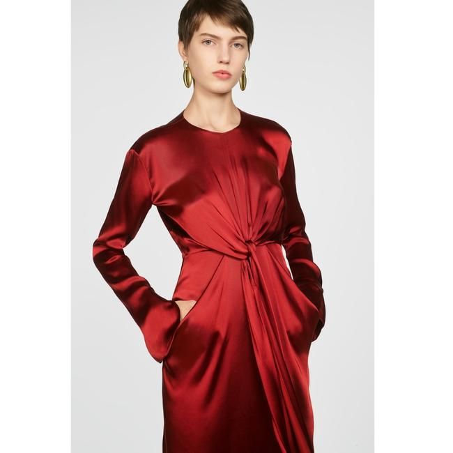 Zara Intense Red Campaign with Bow Details (8356) Long Casual Maxi Dress Size 8 (M) Zara Intense Red Campaign with Bow Details (8356) Long Casual Maxi Dress Size 8 (M) Image 4