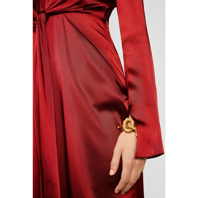 Zara Intense Red Campaign with Bow Details (8356) Long Casual Maxi Dress Size 8 (M) Zara Intense Red Campaign with Bow Details (8356) Long Casual Maxi Dress Size 8 (M) Image 5