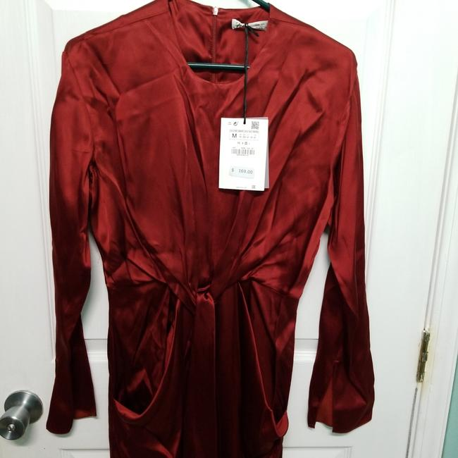 Zara Intense Red Campaign with Bow Details (8356) Long Casual Maxi Dress Size 8 (M) Zara Intense Red Campaign with Bow Details (8356) Long Casual Maxi Dress Size 8 (M) Image 8