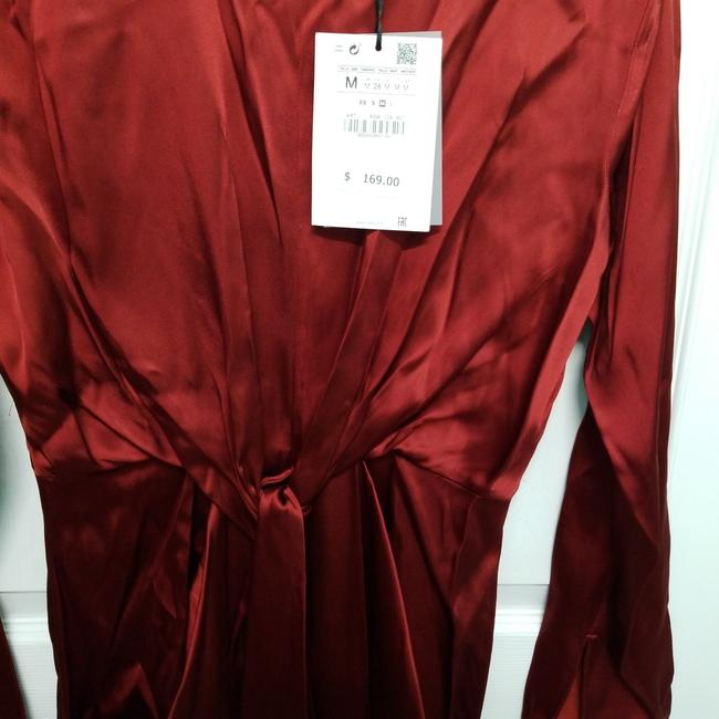 Zara Intense Red Campaign with Bow Details (8356) Long Casual Maxi Dress Size 8 (M) Zara Intense Red Campaign with Bow Details (8356) Long Casual Maxi Dress Size 8 (M) Image 9