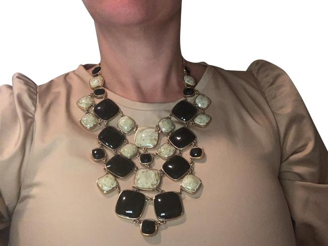 Item - Black and Tan Statement Necklace