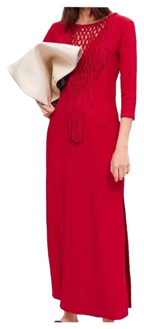 Item - Red Bnwt Limited Edition Knotted 5039/168 Long Casual Maxi Dress Size 6 (S)
