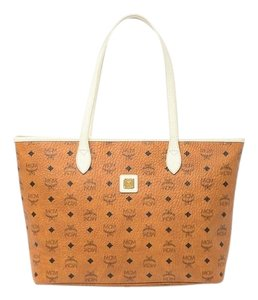 MCM Tote in COGNAC OFFWHITE