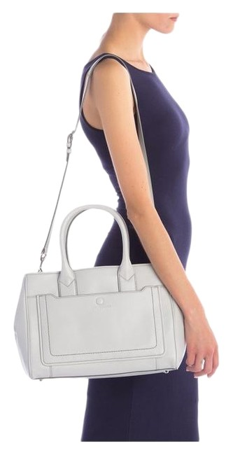 Item - Empire City Light Grey Leather Tote