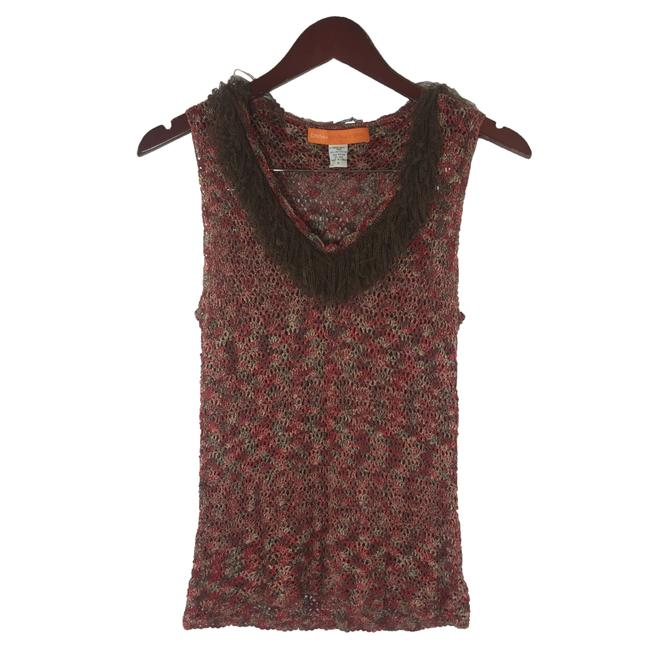Item - Red Brown Silk Women's Tank Top/Cami Size 6 (S)