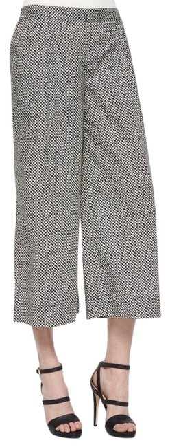 Eileen Fisher Black and White Bandhini Print Cropped Pants Size 12 (L, 32, 33) Eileen Fisher Black and White Bandhini Print Cropped Pants Size 12 (L, 32, 33) Image 1