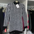 Balmain Black and White Tweed Houndstooth Boucle Stretch Long Sleeve Mini Short Cocktail Dress Size 8 (M) Balmain Black and White Tweed Houndstooth Boucle Stretch Long Sleeve Mini Short Cocktail Dress Size 8 (M) Image 6