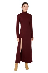 Dark Plum Maxi Dress by Capulet Knit Sweater Purple