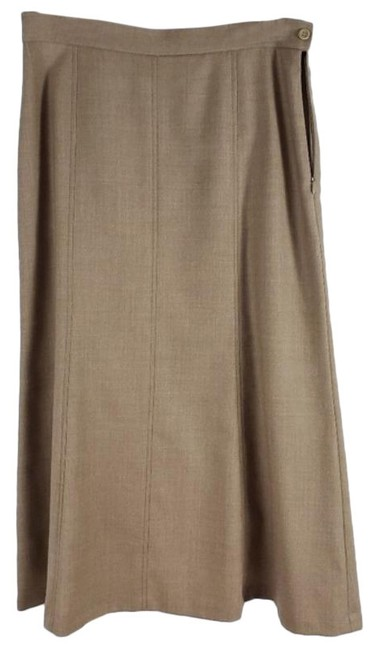 Item - Tan New Aline Virgin Wool Skirt Size 8 (M, 29, 30)