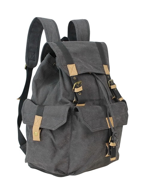 """Item - 15"""" Sport Rucksack C03gry Grey Canvas Backpack"""
