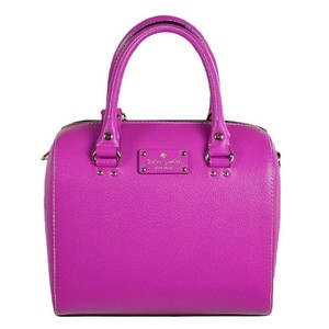 Kate Spade Purple Wellesley Alessa Alessa Satchel in Bajarose