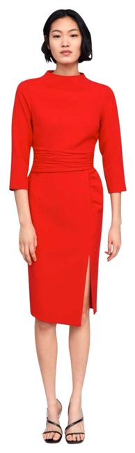 Item - Red 2096709600 Mid-length Cocktail Dress Size 6 (S)
