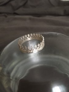 Local artist Sterling Silver Crown Ring