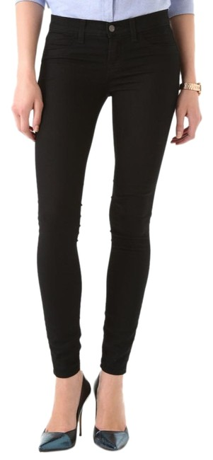 Item - Black Dark Rinse Super Jeggings Skinny Jeans Size 24 (0, XS)