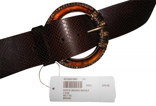 Preload https://img-static.tradesy.com/item/26628/chico-s-brown-exotic-beaded-buckle-belt-0-0-540-540.jpg
