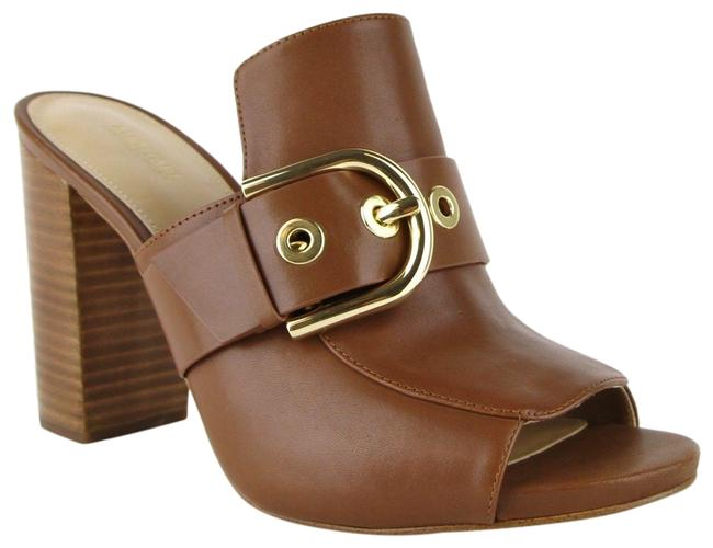 Michael Kors Brown Cooper Leather Slip-on Open Toe Heels 4os7cphp1l Mules/Slides Size US 9 Regular (M, B) Michael Kors Brown Cooper Leather Slip-on Open Toe Heels 4os7cphp1l Mules/Slides Size US 9 Regular (M, B) Image 1