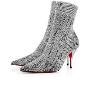 Christian Louboutin Stiletto Ankle Classic Gena silver Boots