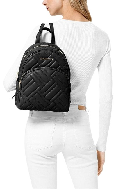 Michael Kors Abbey Quilted Black Leather Backpack Michael Kors Abbey Quilted Black Leather Backpack Image 1
