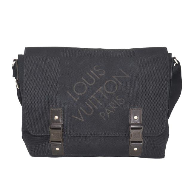 Item - Loup Noir Black Damier Geant Canvas Messenger Bag