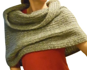 Unknown Gray Soft Large Knit Wide Infinity Scarf Shawl Wrap