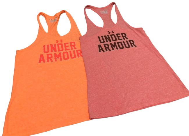 Item - Orange and Pink X2 Semi Fitted Heat Gear Activewear Top Size 4 (S)