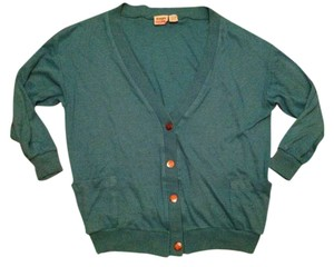 Simple Addition Teal Blue Green Cardigan