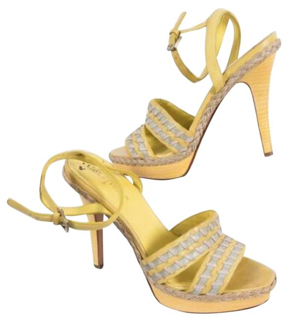 Item - Lime Green Air Vanessa Seaglass Multi Leather Platform Sandals Size US 10 Regular (M, B)