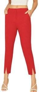 SheIn Trouser Pants Red
