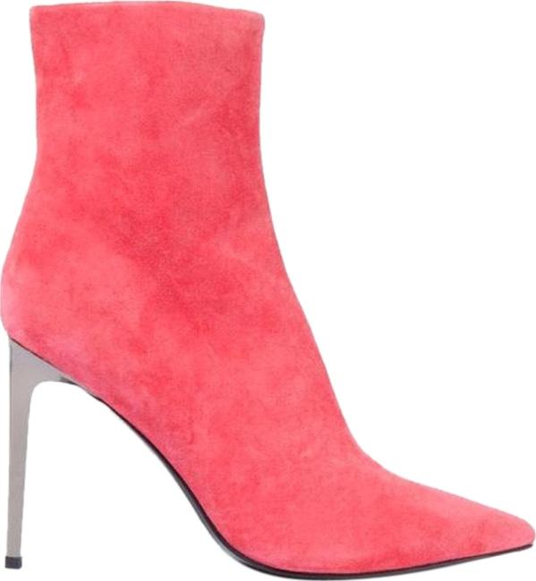 Item - Pink Women's Suede Ankle Boots/Booties Size US 8 Regular (M, B)