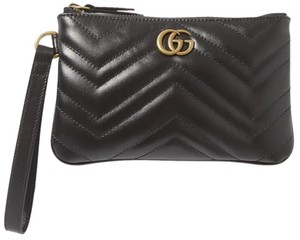 Gucci Tote Purse Holiday Marmont Wristlet in BLACK