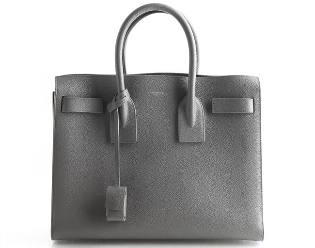 Item - Sac de Jour Ysl Small Gray Leather Satchel