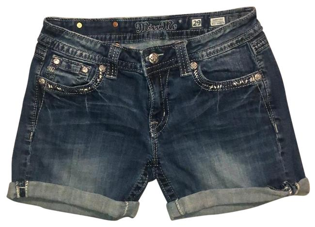 Item - Blue Fleur-de-lis Back Pockets Shorts Size 8 (M, 29, 30)