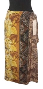 Diane Gilman Maxi Skirt Yellow, Tans, Browns & Black