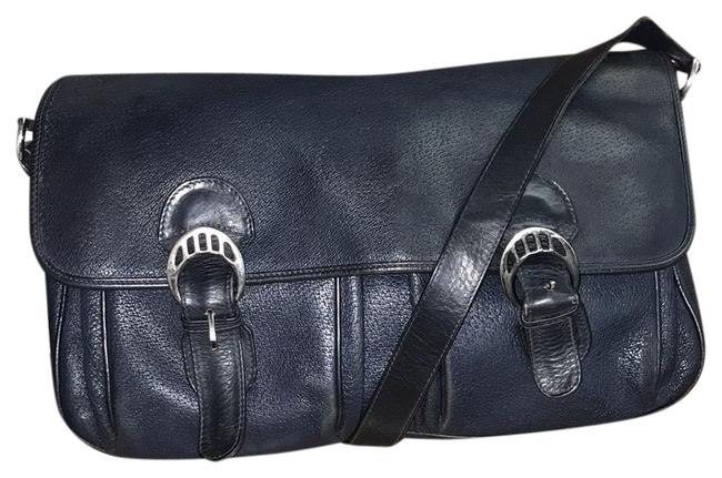 Item - Vintage Blue Leather Messenger Bag