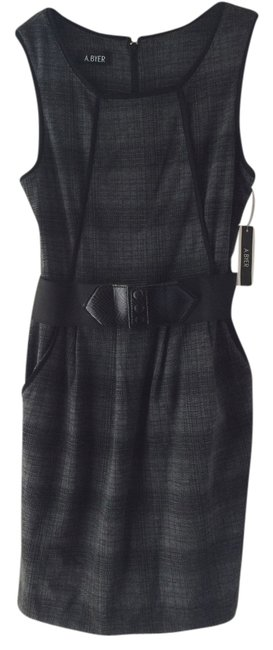 Preload https://img-static.tradesy.com/item/2663095/a-byer-grey-and-black-check-checkered-stretchy-mini-night-out-dress-size-8-m-0-0-650-650.jpg