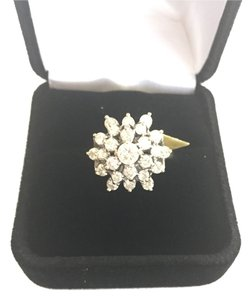 Dismondsy 1.5 Carat Diamond And Gold Cluster Ring steal