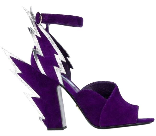 Item - Purple Thunderbolt 110mm Sandals Size EU 36.5 (Approx. US 6.5) Regular (M, B)