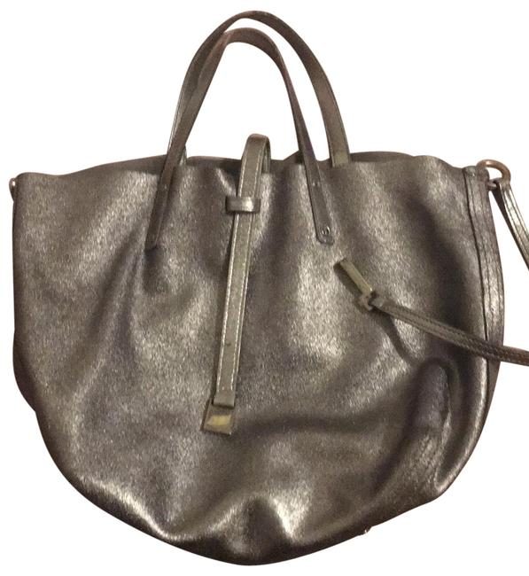 Item - Reversible Silver and Grey Suede Tote