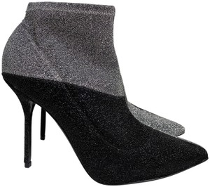 Pierre Hardy Knit Stretch Pointed Toe Black Boots