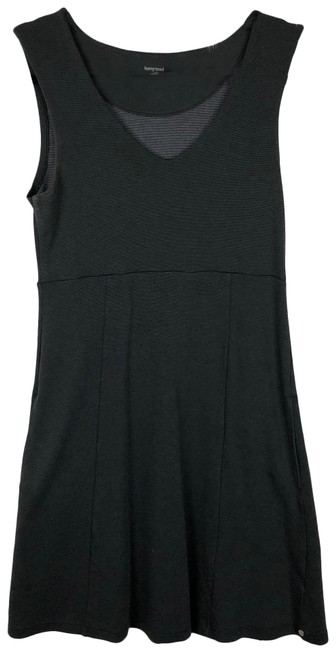 Item - Grey Black Horny Toad Micro Stripe Empire Waist with Pockets Short Casual Dress Size 6 (S)