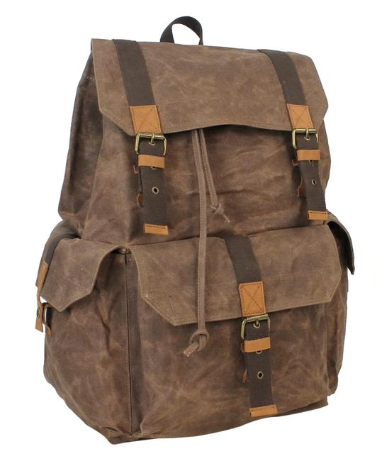 """Item - 21"""" Super Large Sport Wax Classic C04lw Coffee Brown Canvas Backpack"""
