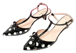 Kate Spade Polka Dot Pomona Black/White Sandals